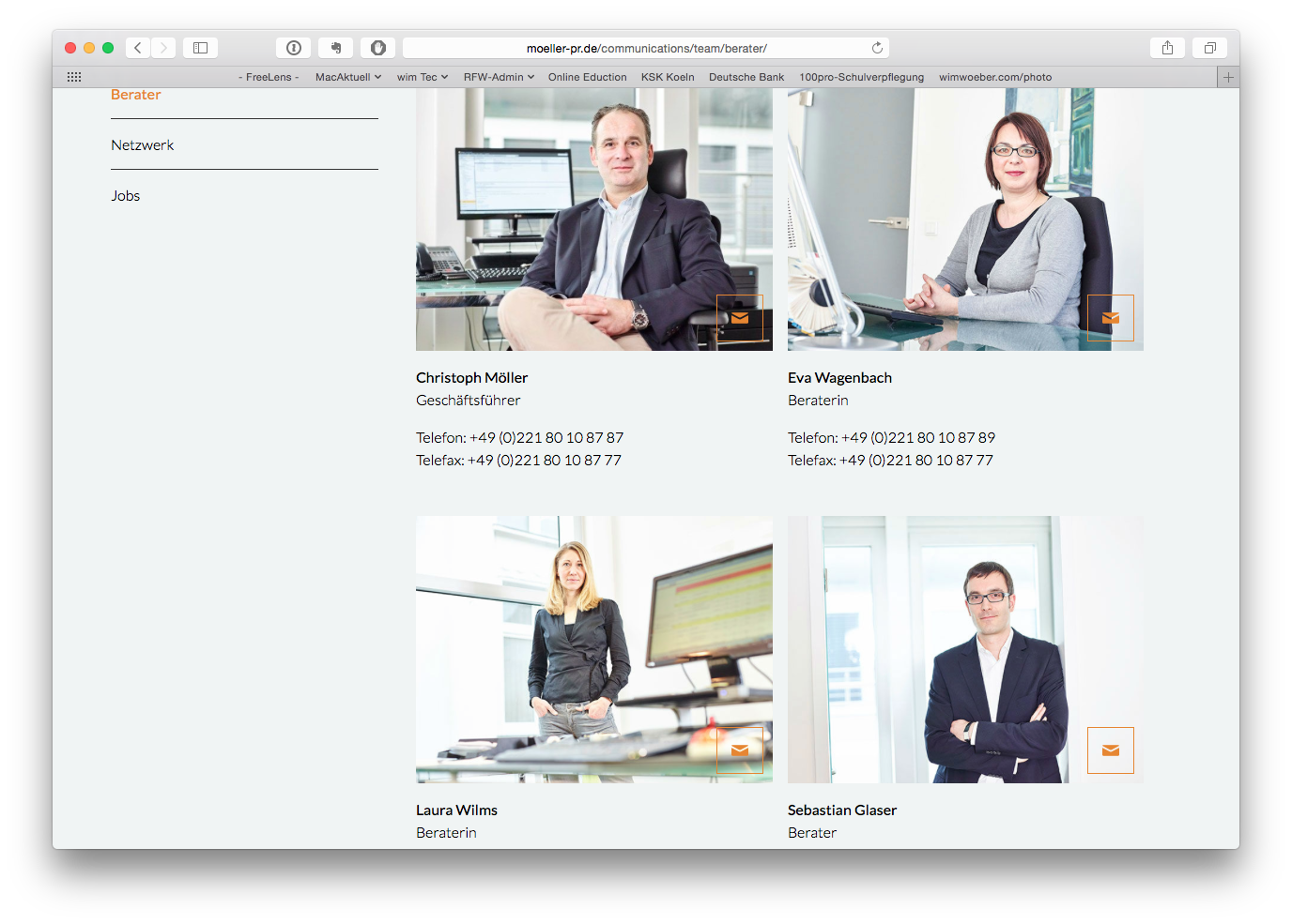 Alter Kunde, neue Website