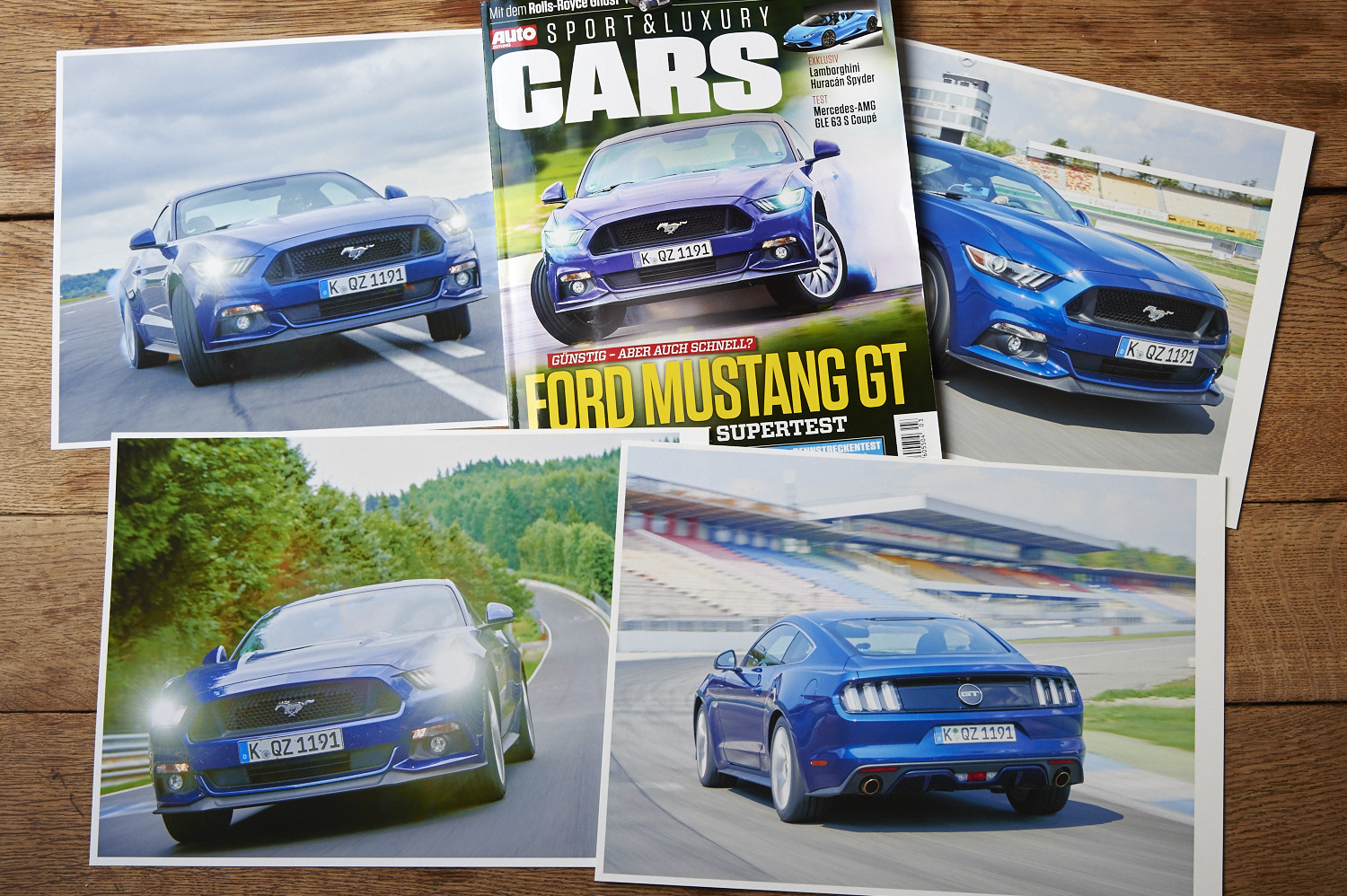 Ford Mustang auf dem Cover